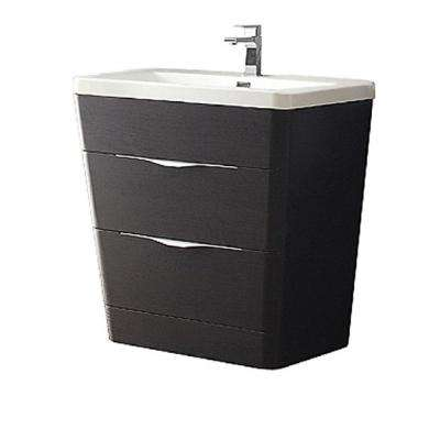 Milano 32 in. Vanity in Chestnut with Acrylic Vanity Top in White