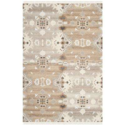 Natural Kilim Grey/Multi 6 ft. x 9 ft. Area Rug