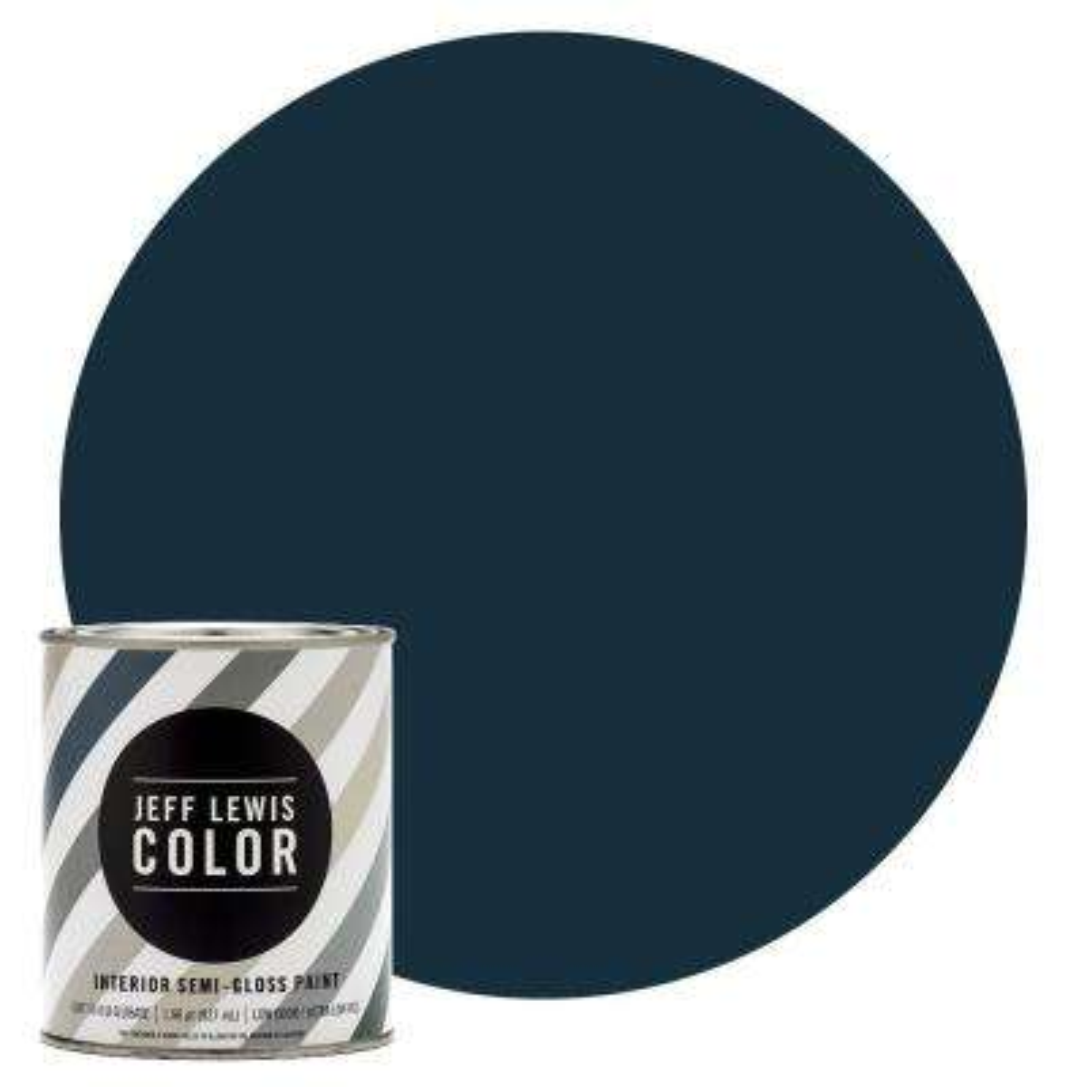 1-qt. #JLC316 Ink Blot Semi-Gloss Ultra-Low VOC Interior Paint