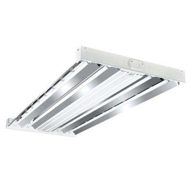 4 ft. 4-Lamp White Industrial Grade T5-Fluorescent High Bay Light Fixture