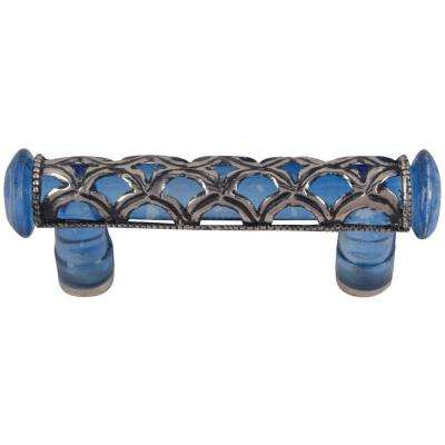 Good Blue Glass Tangeres Cabinet Pull