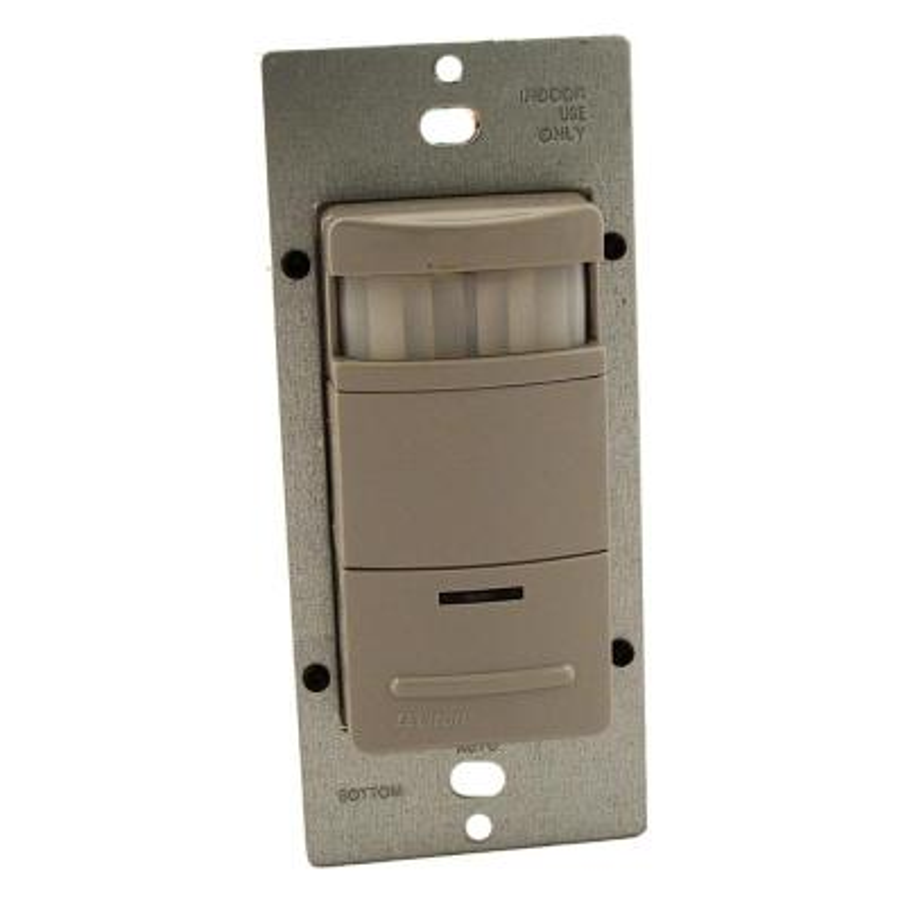 Decora Commercial Grade Passive Infrared Single-Pole 2100 sq. ft. 180-Degree Occupancy Sensor, Gray