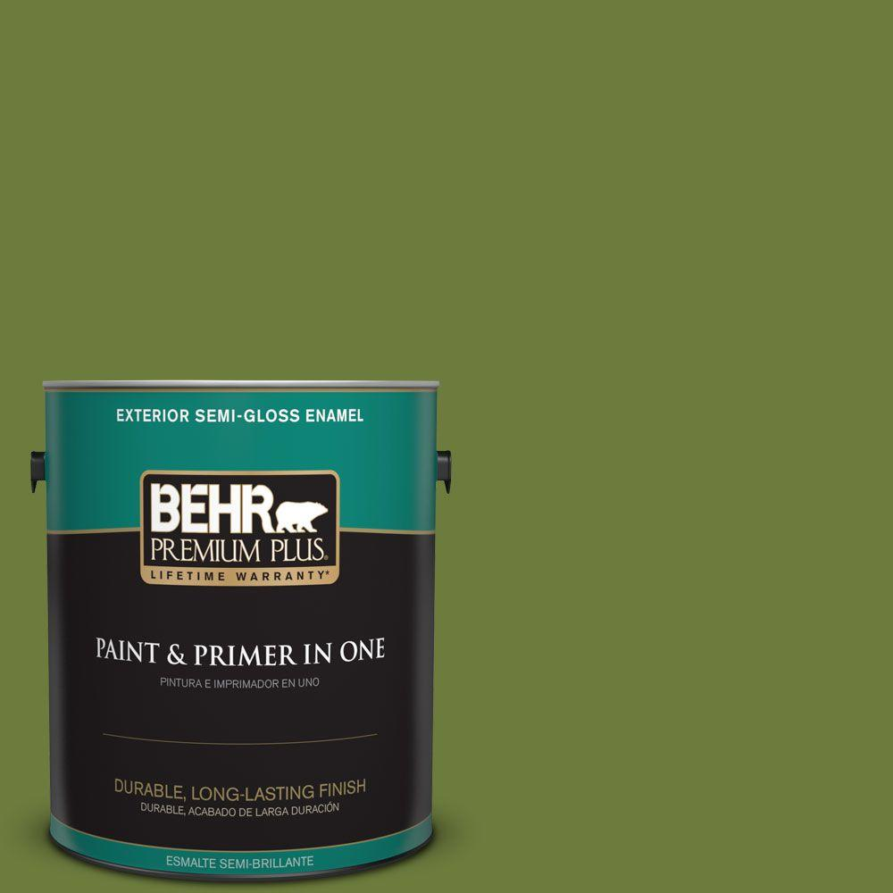 1 gal. #HDC-SM16-11 Hot Dog Relish Semi-Gloss Enamel Exterior Paint