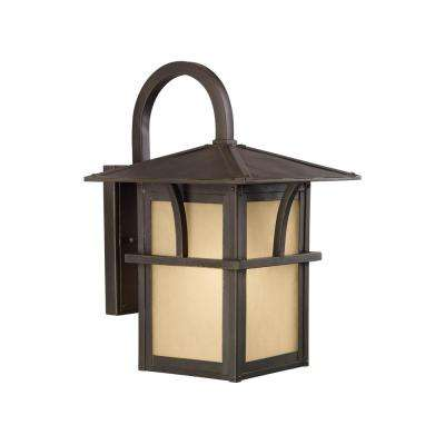 Medford Lakes 1-Light Statuary Bronze Outdoor Wall Mount Lantern with LED Bulb