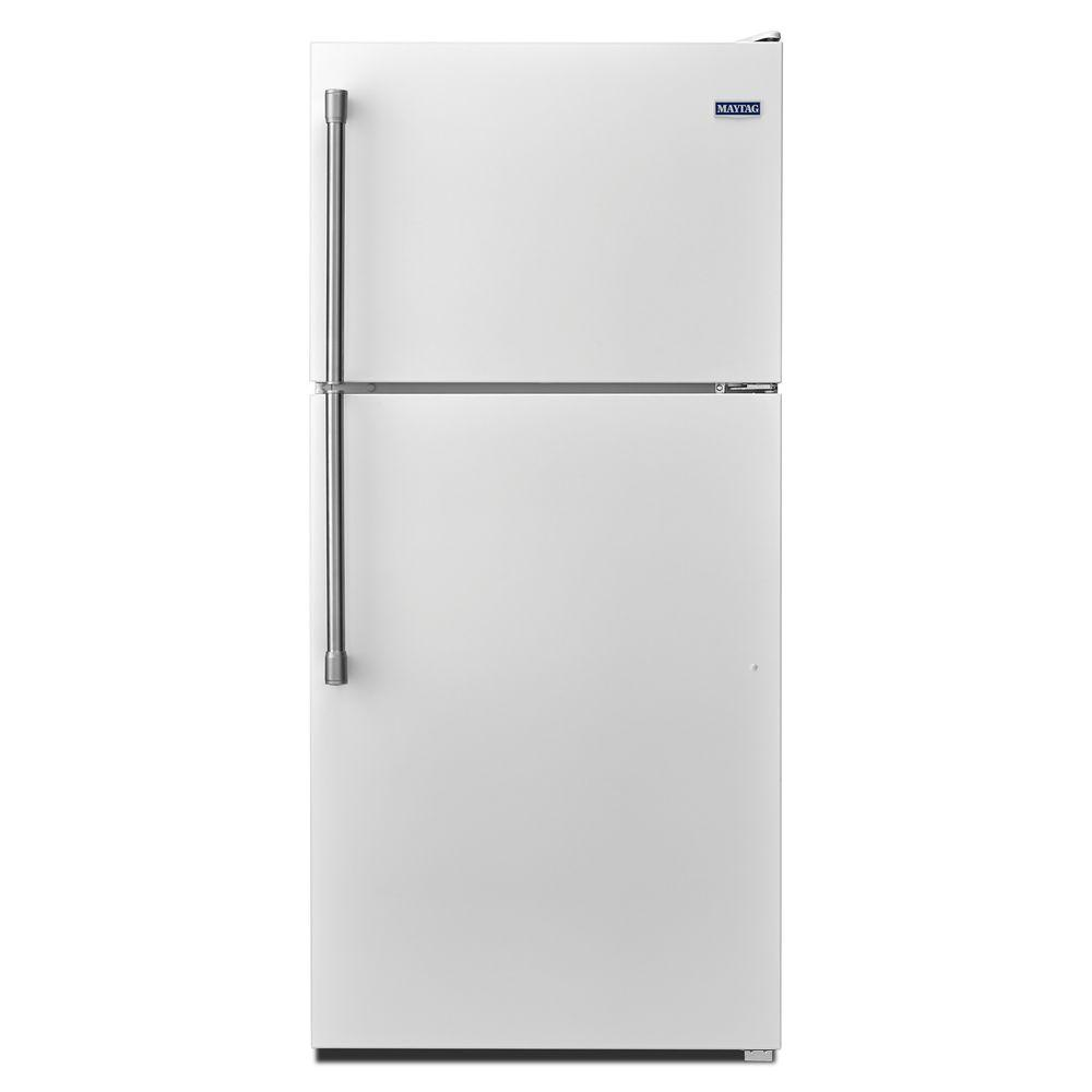 Maytag 18.2 cu. ft. Top Freezer Refrigerator in White