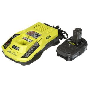 Ryobi 18-Volt ONE+ Lithium-Ion Battery Pack 1.3Ah and Dual Chemistry IntelliPort... by Ryobi