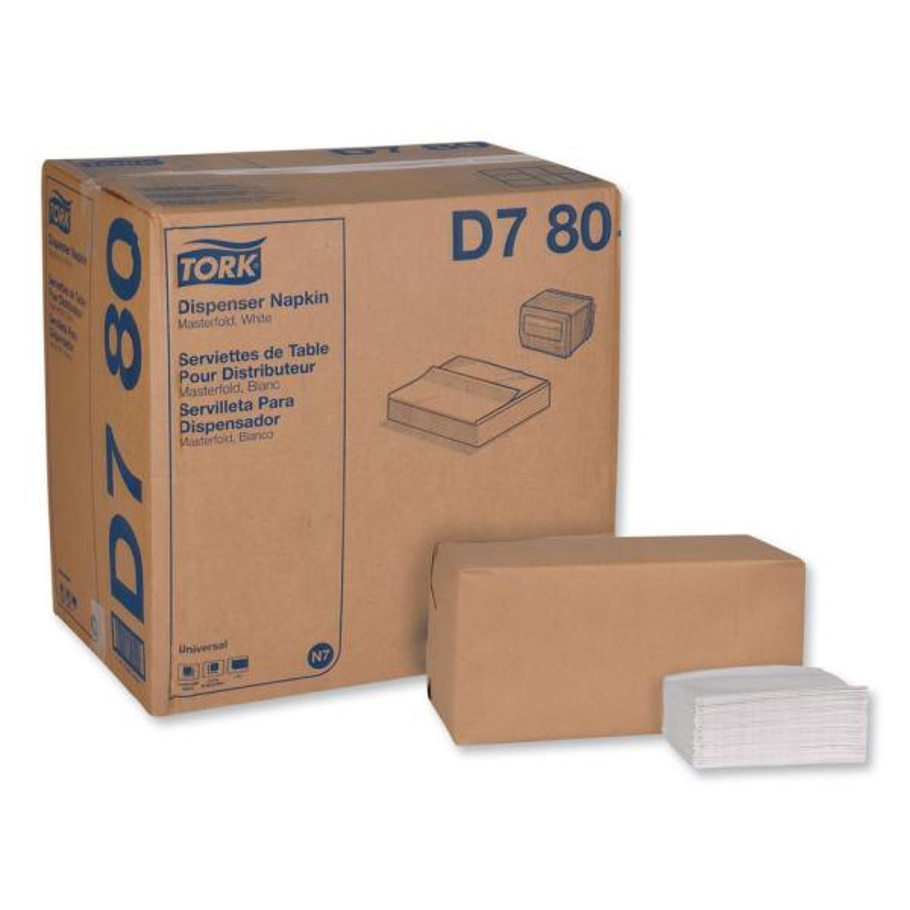 Universal Masterfold Dispenser Napkins, 1-Ply, 13 in. x 12 in., White, 500/Pack, 12 Packs/Carton