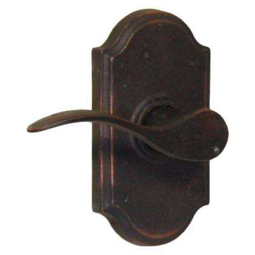 Molten Bronze Oil-Rubbed Bronze Left-Hand Premiere Privacy Bed/Bath Carlow Door Lever