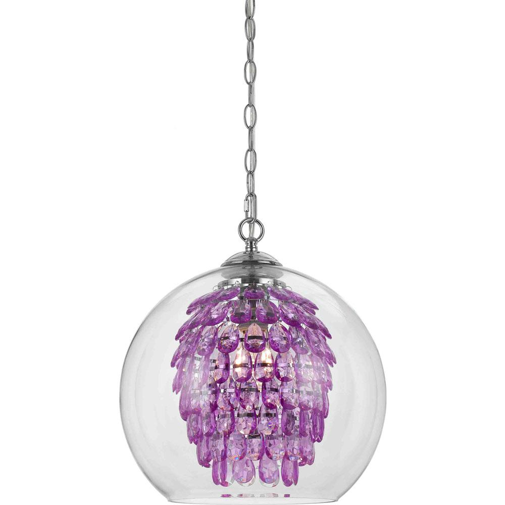 Af lighting glitzy 1 light purple chandelier 9100 1h the home depot af lighting glitzy 1 light purple chandelier mozeypictures Image collections
