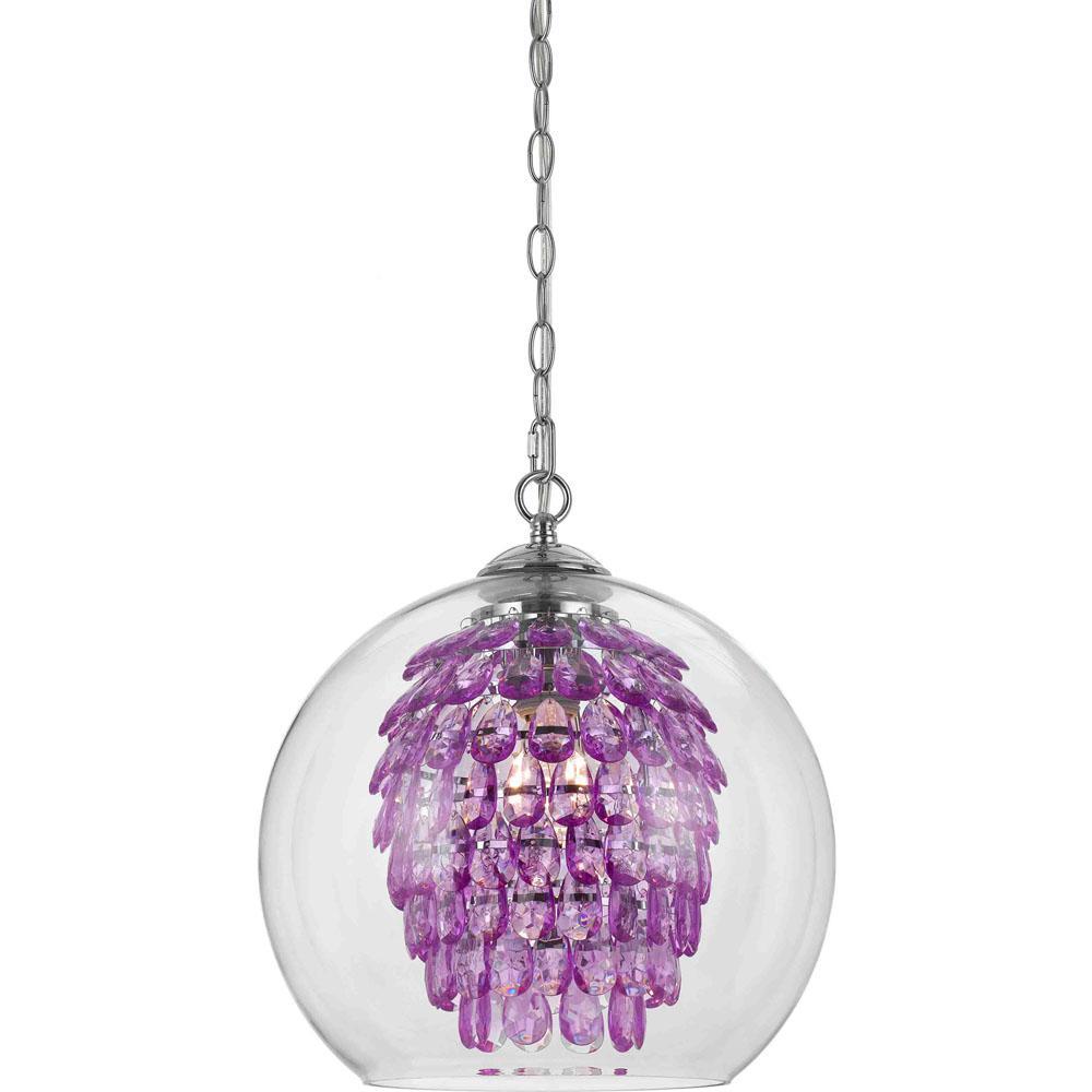 Purple chandelier lighting democraciaejustica af lighting glitzy 1 light purple chandelier 9100 1h the aloadofball Gallery