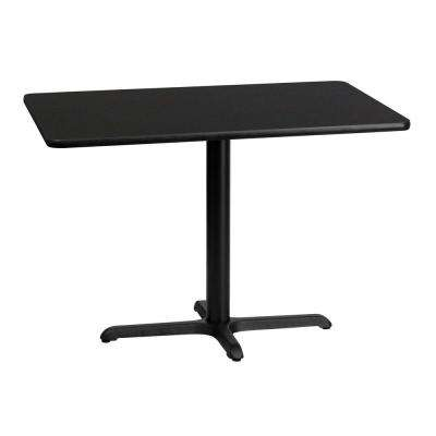 30 in. x 42 in. Rectangular Black Laminate Table Top with 22 in. x 30 in. Table Height Base