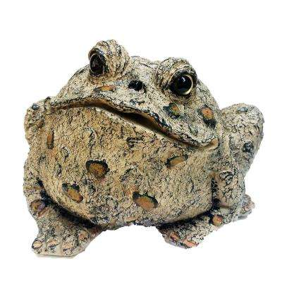 10.5 in. H Toad Hollow Extra-Large Classic Toad Whimsical Home and Garden Statue