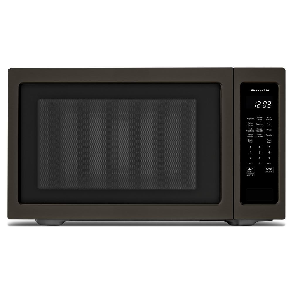 KitchenAid 2.2 cu. ft. Countertop Microwave in PrintShield Black Stainless