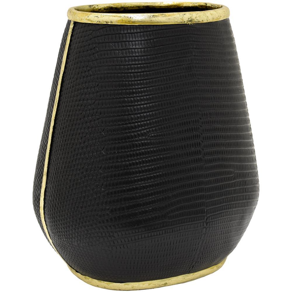 Black Resin Decorative Vase