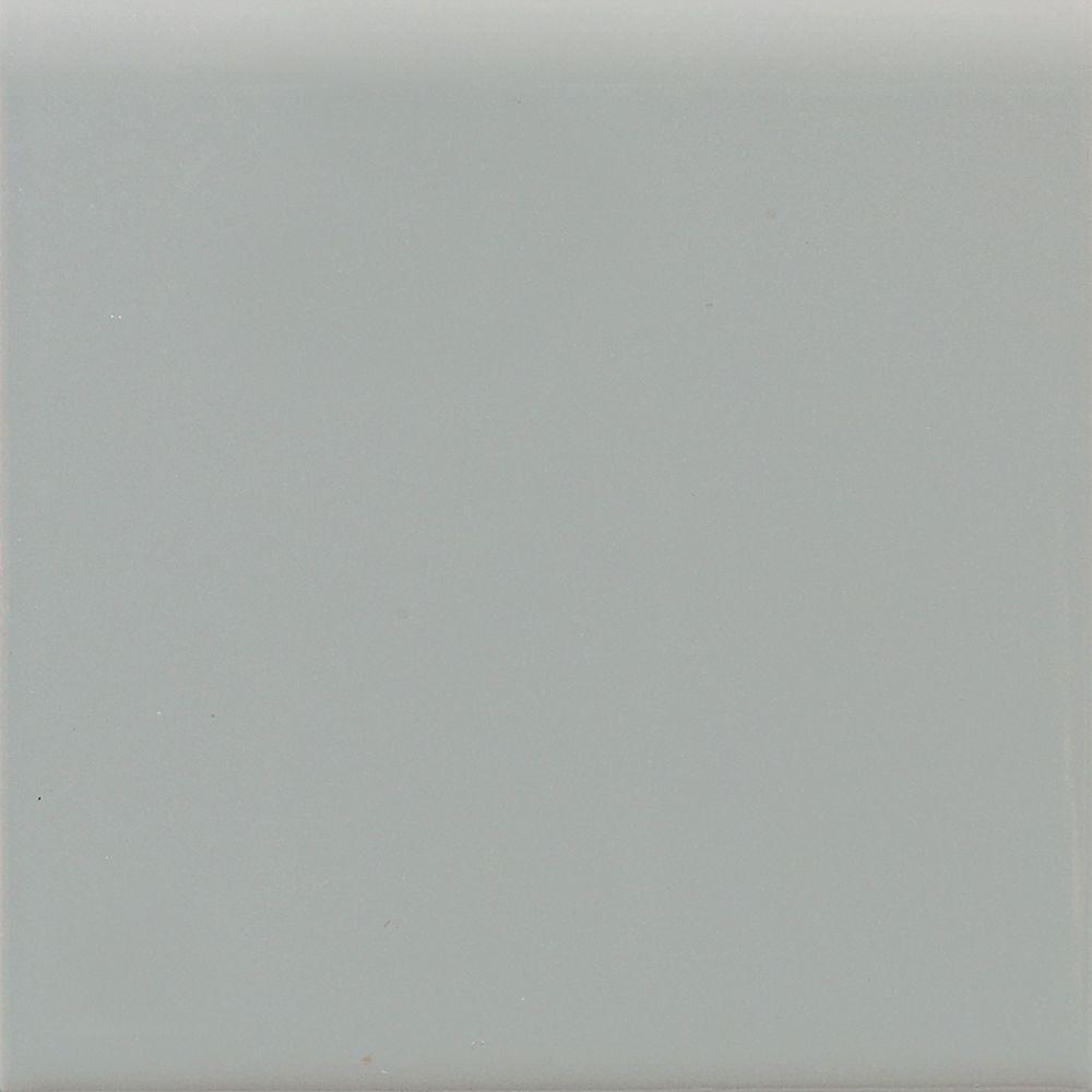 Matte Desert Gray 6 in. x 6 in. Ceramic Bullnose Wall