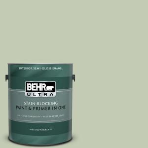 Behr Ultra 1 Gal 420e 3 Spring Hill Semi Gloss Enamel Interior Paint And Primer In One 375401 The Home Depot