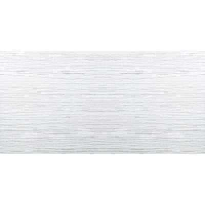 Thread White Matte 11.81 in. x 23.62 in. Porcelain Floor and Wall Tile (15.504 sq. ft. / case)