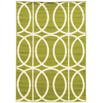 Claremont Links Green and Cream 5 ft. x 7 ft. Rectangle Area Rug