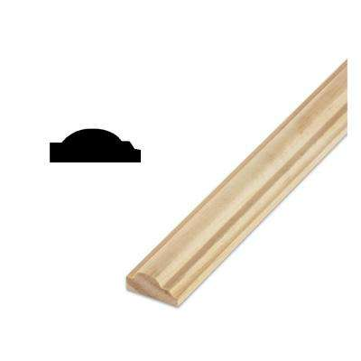 DM A9 9/16 in. x 1-3/16 in. x 96 in. Solid Pine Wall and Cabinet Trim Moulding