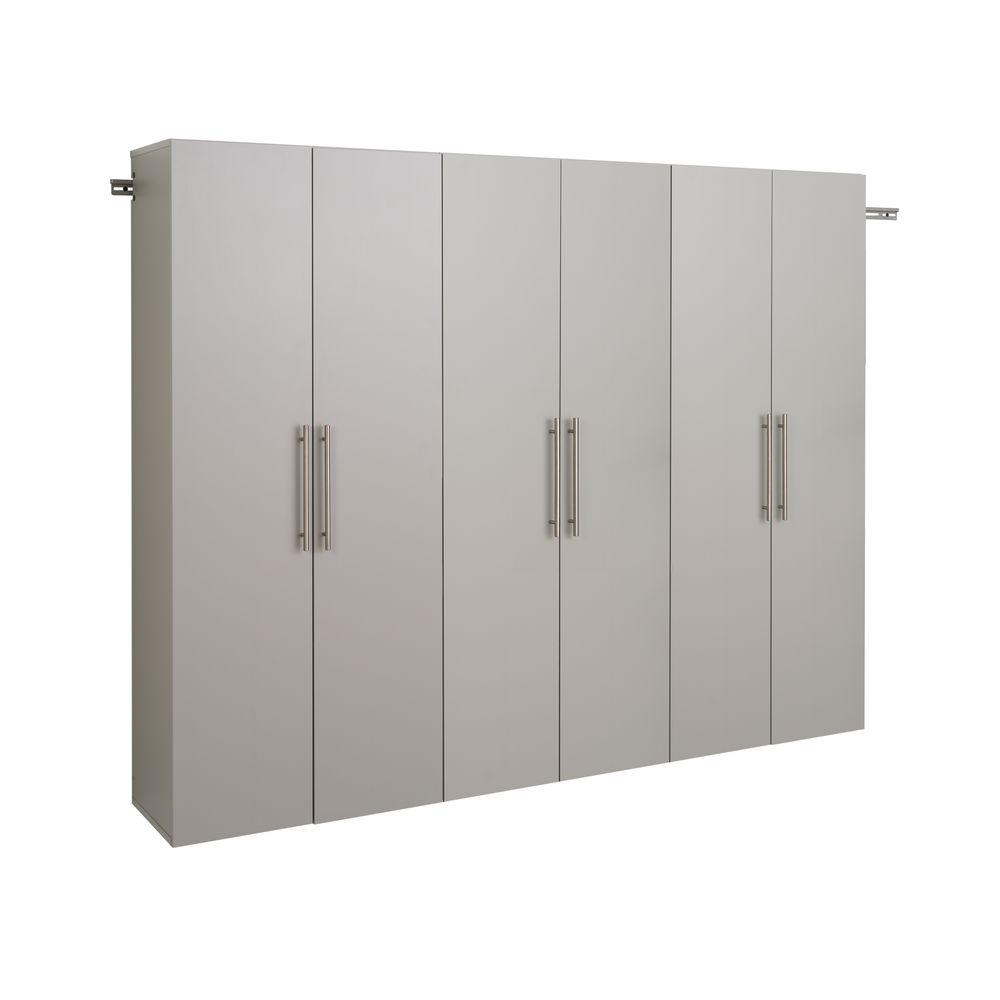 W Light Gray Wall Mounted Storage
