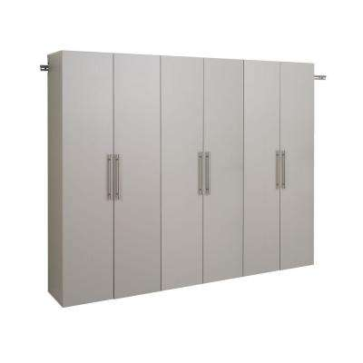 HangUps 72 in. H x 90 in. W Light Gray Wall Mounted Storage Cabinet Set D