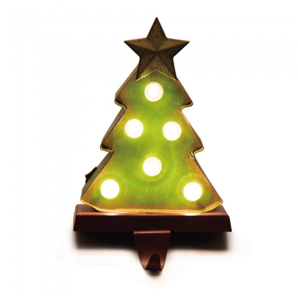 Christmas Tree Stocking Holder.Glitzhome 8 48 In H Marquee Led Tree Stocking Holder