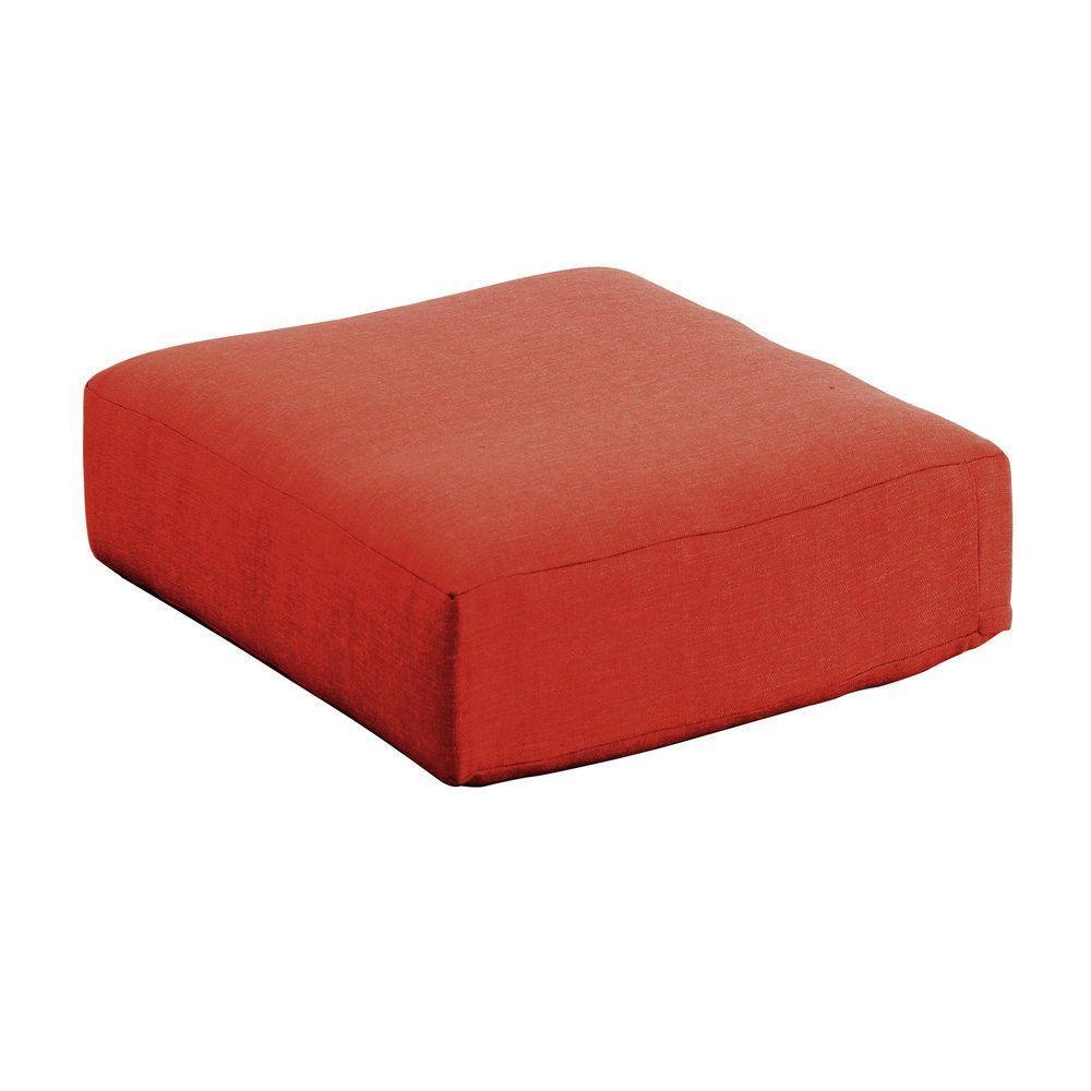 Moreno Valley 26.50 x 26.50 Outdoor Ottoman Cushion in Sunbrella Canvas Rust