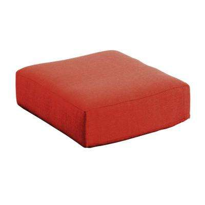 Moreno Valley 26.50 x 26.50 Outdoor Ottoman Cushion in Sunbrella Canvas Rust