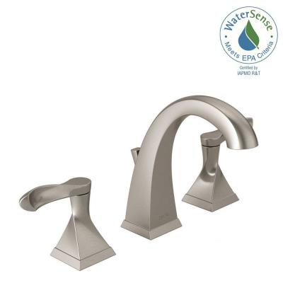 Delta Everly 8u0022 2-Handle Bathroom Faucet w/Metal Drain Assembly Brushed Nickel