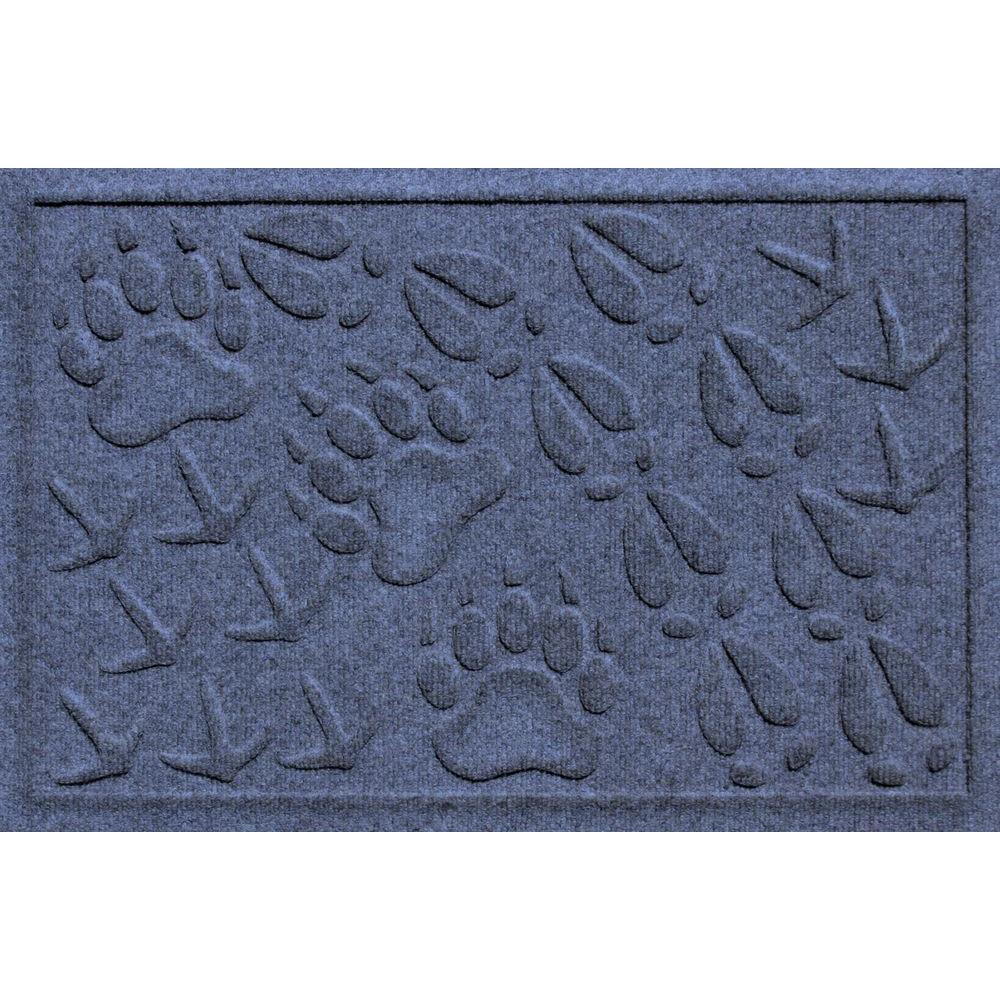Aqua Shield Animal Tracks Navy 17.5 in. x 26.5 in. Pet