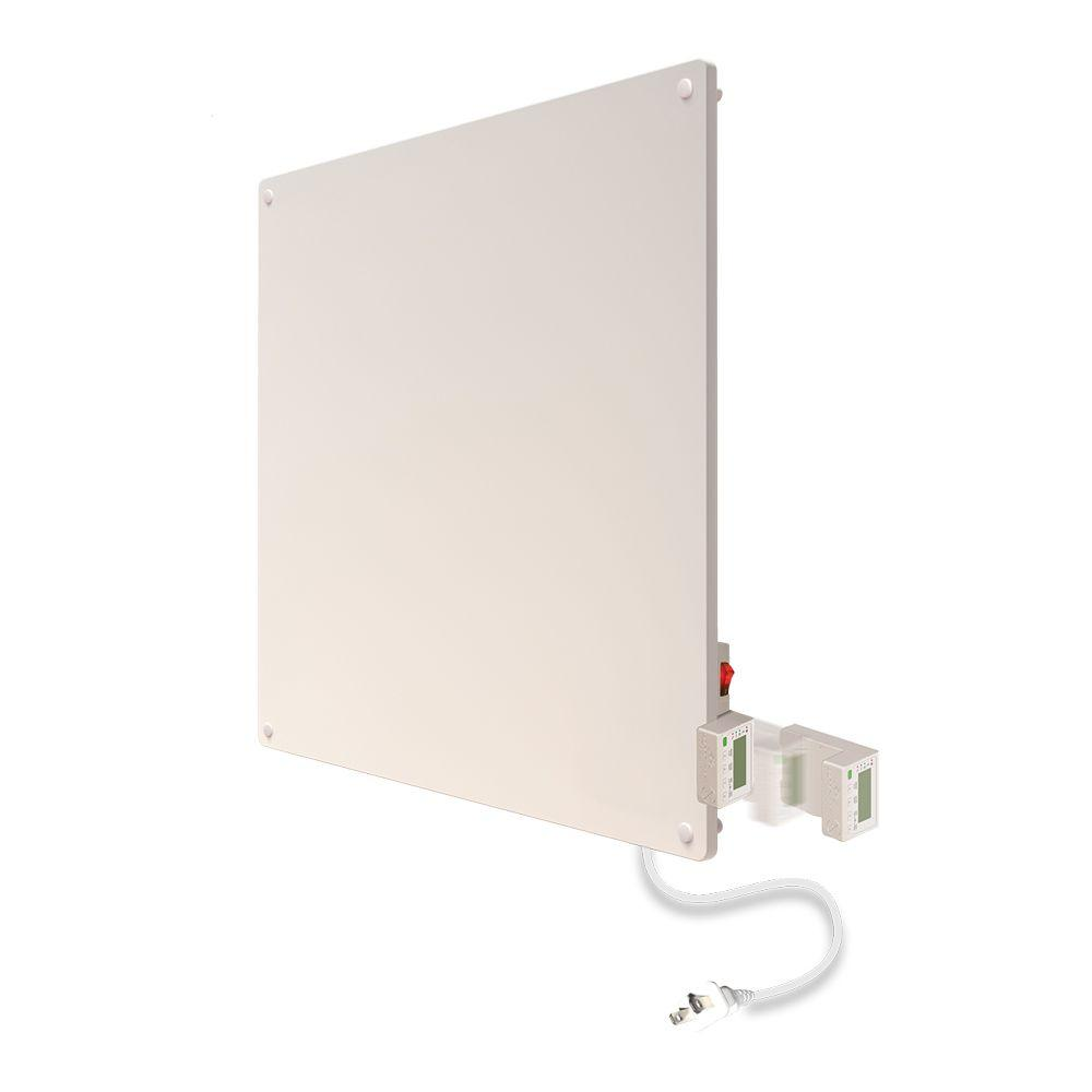Econo-Heat 400-Watt Wall Panel Convection Heater with Timer and Thermostat