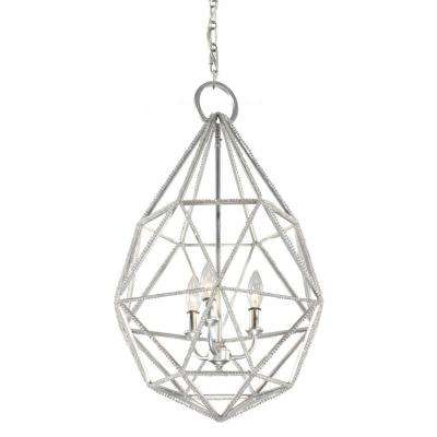 Marquise 3-Light Silver Indoor Pendant