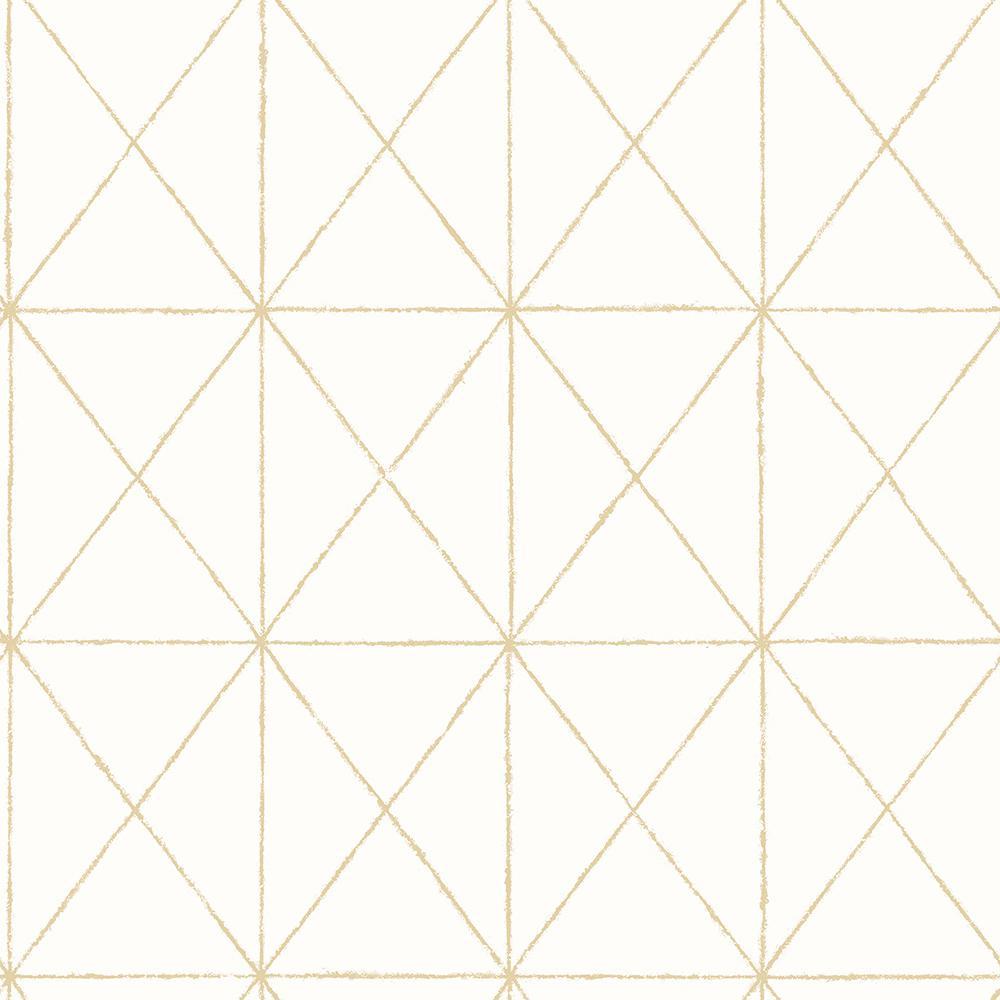 Intersection Gold Geometric Wallpaper