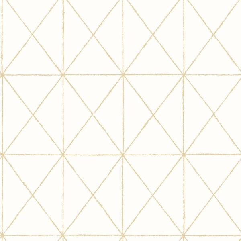 A-Street Intersection Gold Geometric Wallpaper Sample 2697-78002SAM