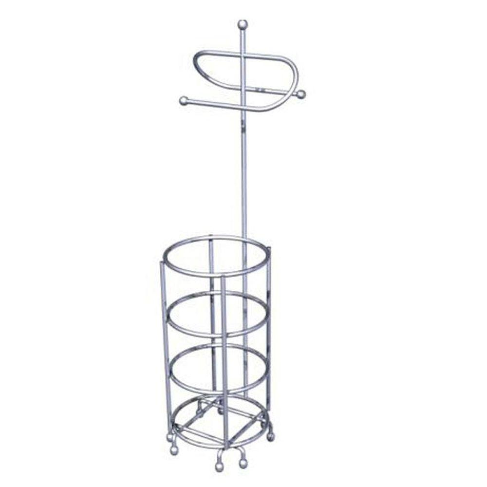 zenna home freestanding toilet paper holder in chrome wire