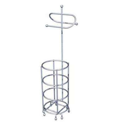 Freestanding Toilet Paper Holder in Chrome Wire