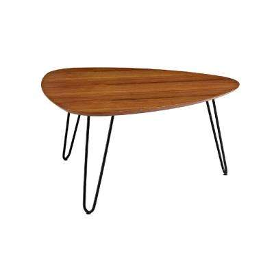 32 in. Hairpin Leg Wood Coffee Table - Walnut