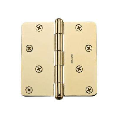4 in. Polished Brass Radius Hinge