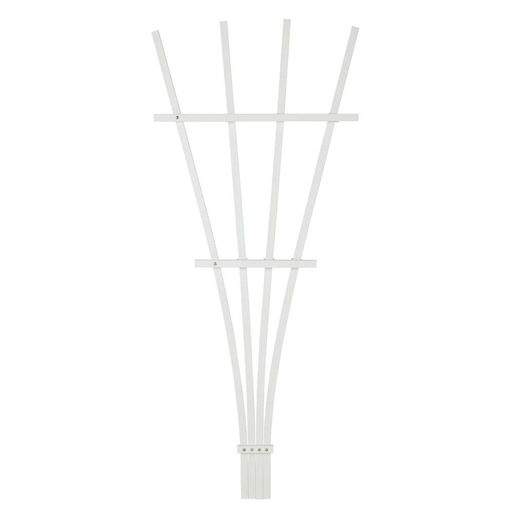 4 ft. White Composite Foldable Fan Trellis