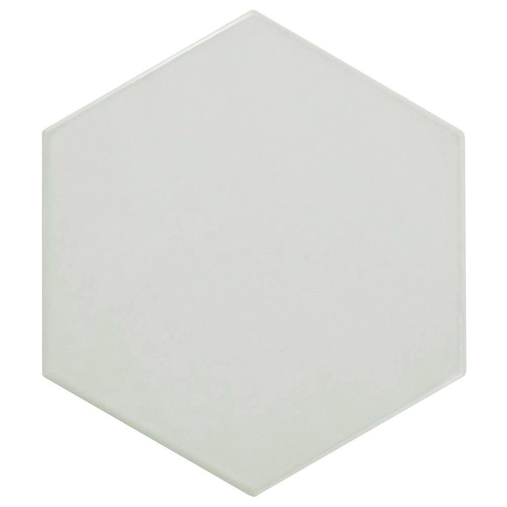 Merola Tile Hexatile Glossy Gris 7 in. x 8 in. Ceramic Wall Tile (2.2 sq. ft. / pack)