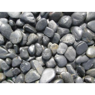 Ash Beach 0.5 cu. ft. 3 cm to 5 cm River Rock 40 lbs. Bag (21-Bags/Pallet)
