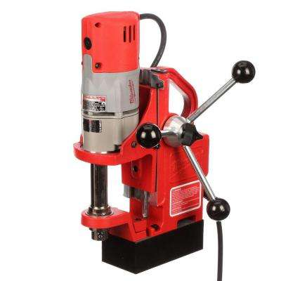 Compact Electro-Magnetic Drill Press with 9.0-Amp Motor