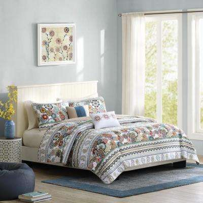 Lacie 4-Piece Multi Twin/Twin XL Global Coverlet Set