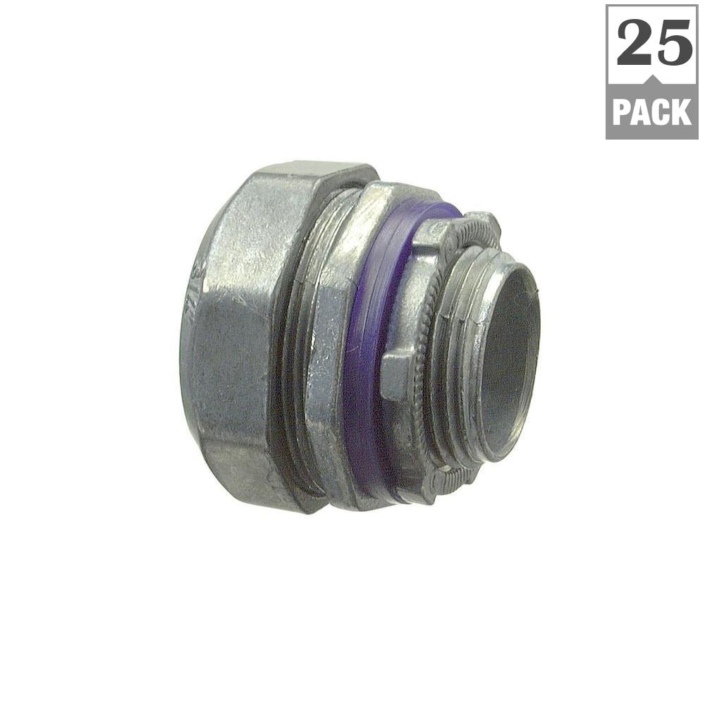 1/2 in. Liquid-Tight Connectors (25-Pack)