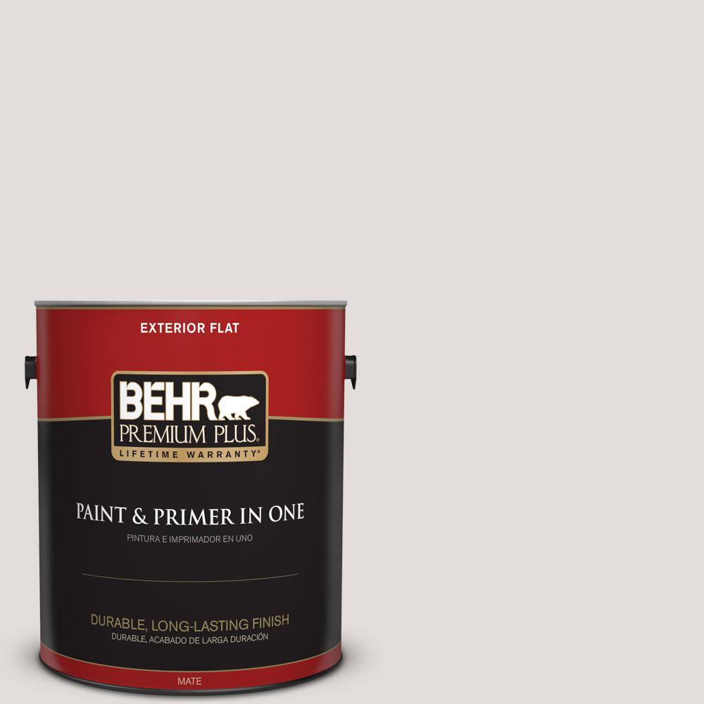 BEHR Premium Plus 1-gal. #PWN-63 Abalone Shell Flat Exterior Paint