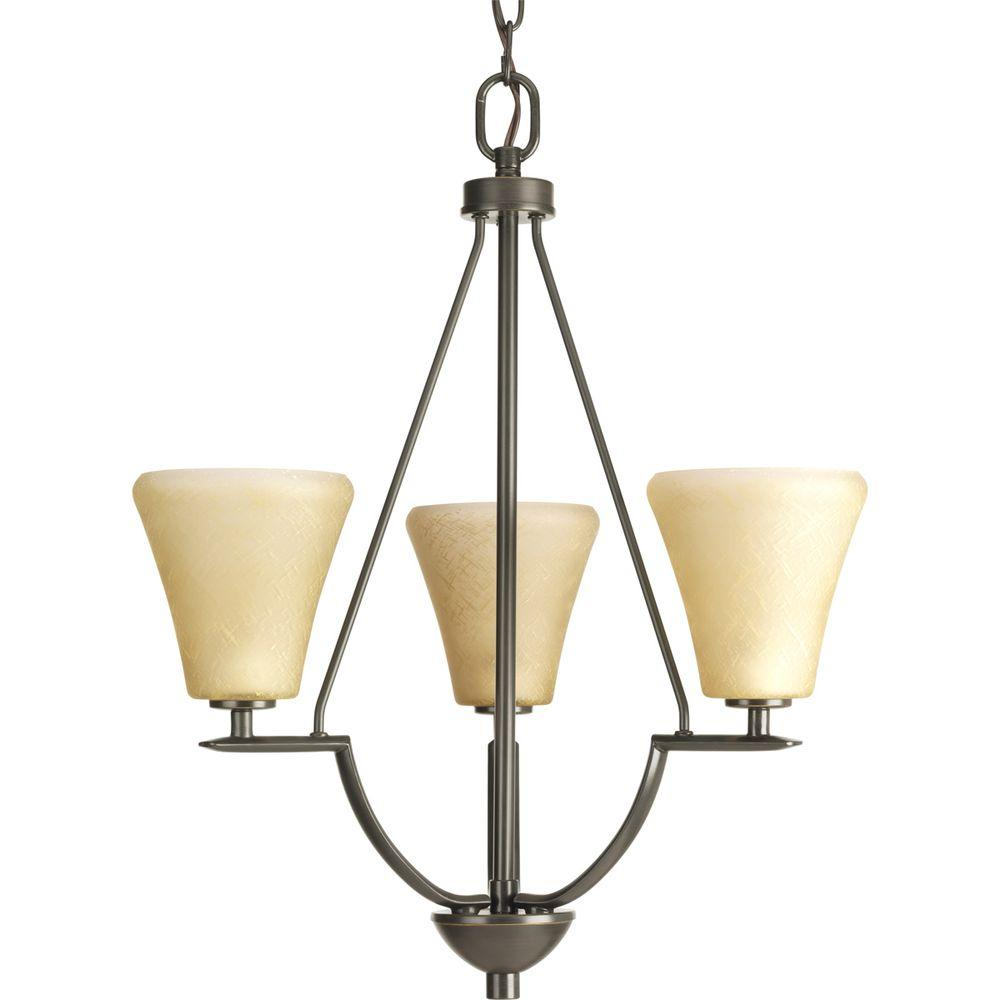 Progress Lighting Bravo Collection 3 Light Antique Bronze
