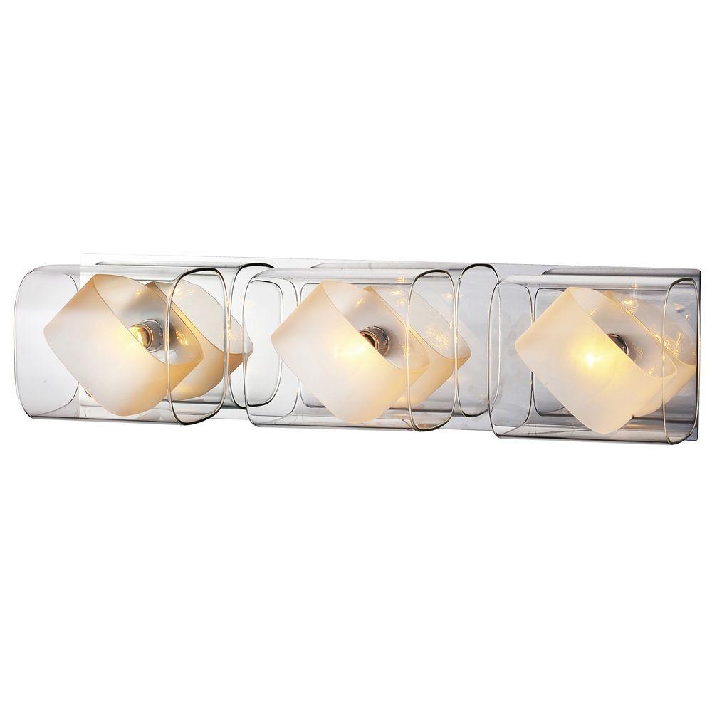 Sash Collection 3-Light Chrome Wall Vanity Light