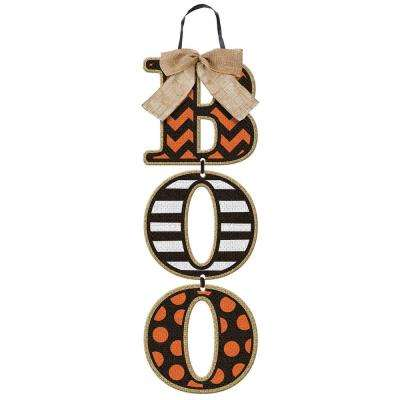 18 in. x 6 in. Halloween Boo Specialty Triple Sign (3-Pack)