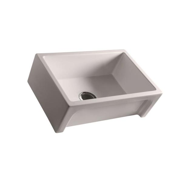 Granville Farmhouse Apron Front Fireclay 30 in. Single Bowl Kitchen Sink in Bisque