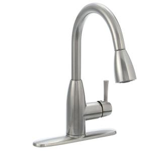 American Standard Fairbury Single-Handle Pull-Down Sprayer Kitchen Faucet in Stainless Steel by American Standard